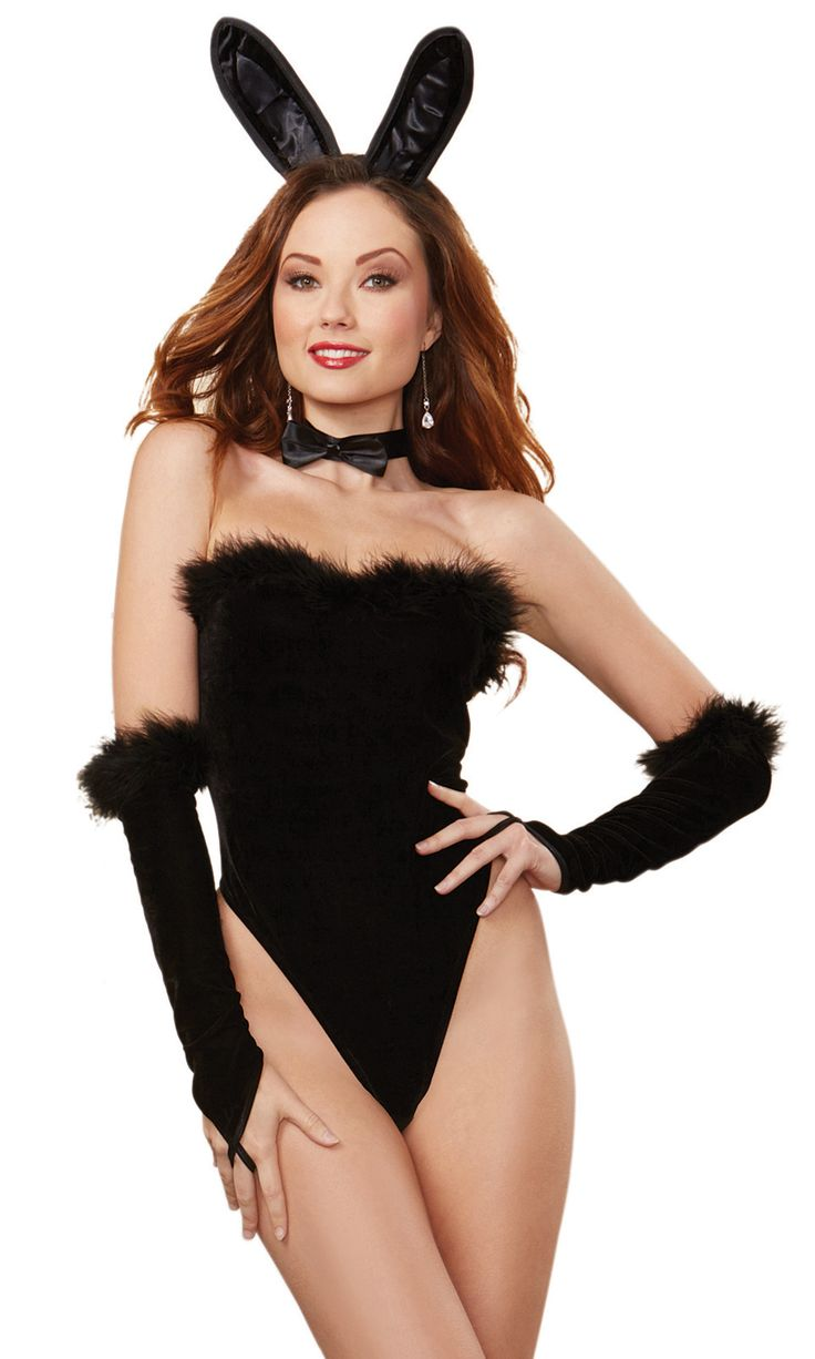 Centerfolds aren't just for magazines. Feel like the beautiful bombshell that you are in this sexy velvet teddy with flirty marabou trim by Dreamgirl. The matching gloves, bowtie, and bunny ears are sure to set the mood for a night of playful adventure.
