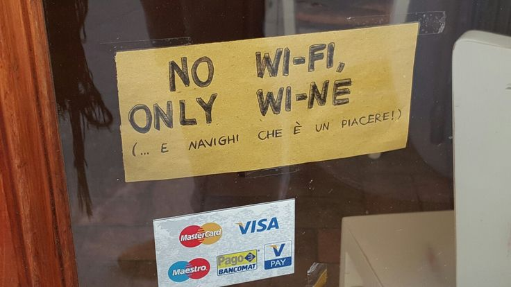 Would like to see more of these. (A post - it  in some restaurant's window in Siena, Italy.)
