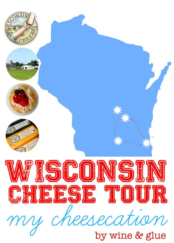 My amazing Wisconsin Cheese Tour Cheesecation! via www.wineandglue.com