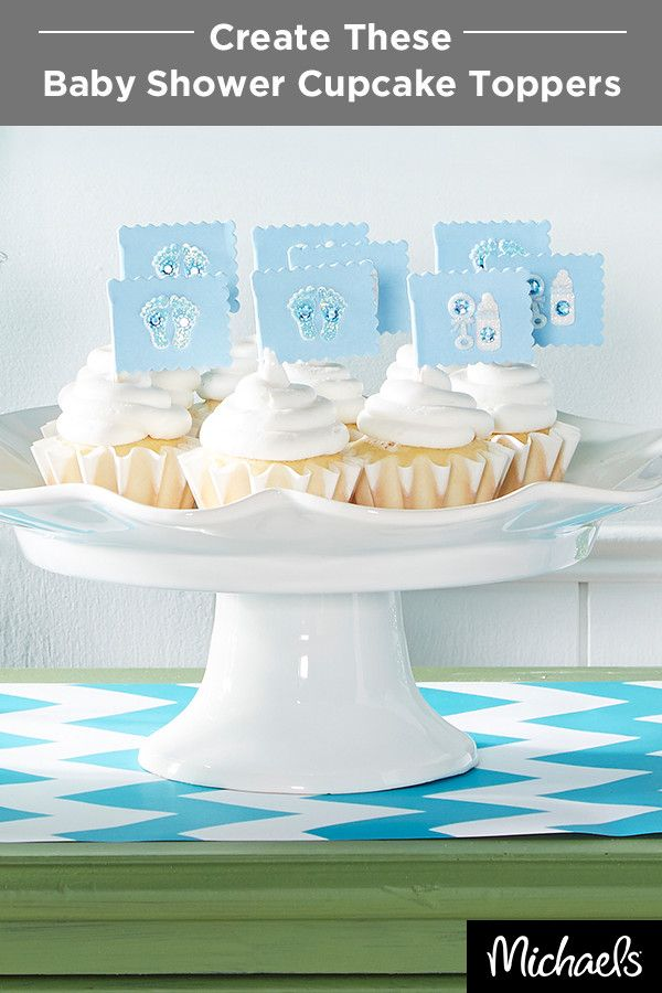 Creating Whimsical Cupcake Toppers For A Baby Shower Is As Easy As 1 2