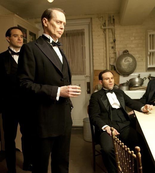 Charlie Cox, Steve Buscemi, and Anatol Yusef from Boardwalk Empire