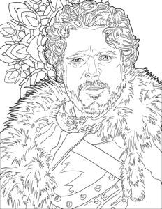 the unofficial game of thrones coloring book for adults preview page