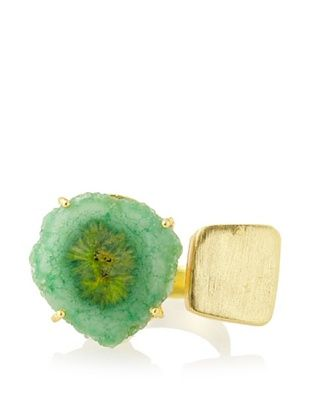 53% OFF Saachi Green Agate Square Plate Ring