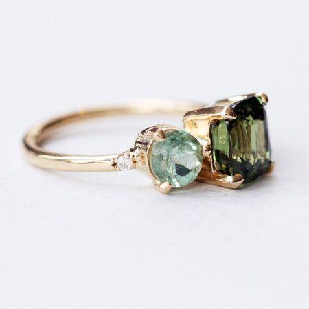 Alexandrite Cluster Ring by Mociun