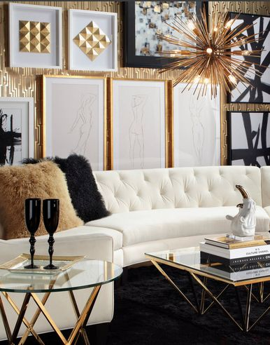 24 best Z Gallerie images on Pinterest Home, Living spaces and - black white and gold living room ideas