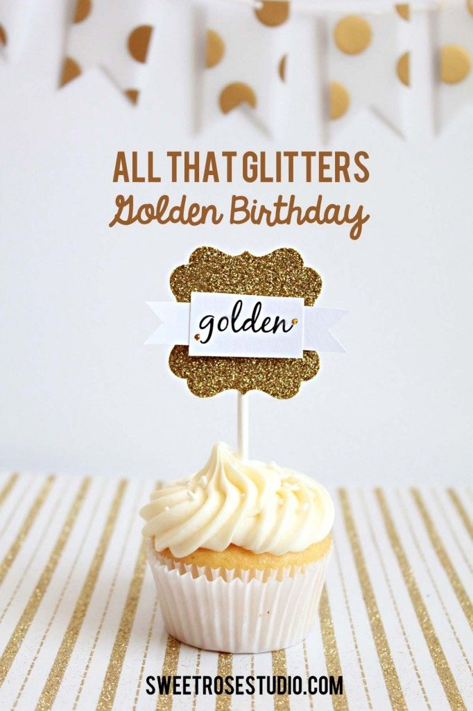 "Awesome idea for a ""Golden"" Birthday or Anniversary!  You could make this at Paradise Scrapbook Boutique in Paradise, CA!!  All That Glitters Golden Birthday Party"
