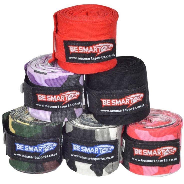 Hand Wraps Bandages Fist Boxing Inner Gloves Mitts MMA Cotton Pair