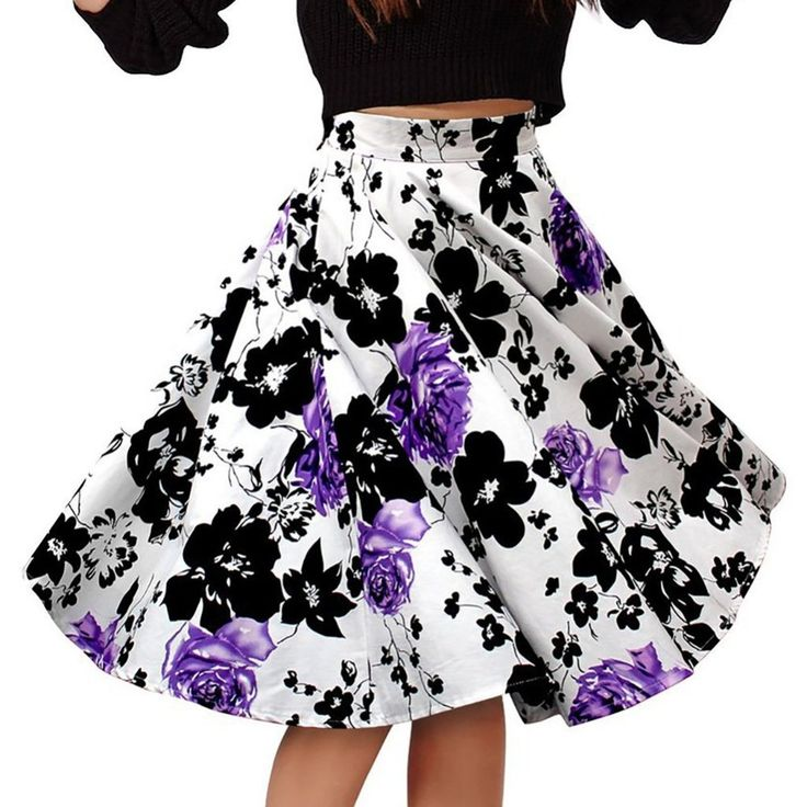 Summer Style Women Body con Skirts Casual Party Printed A-line Skirt #skirts #shorts #women #fashion #style #casual #summer https://seethis.co/kX4WmA/