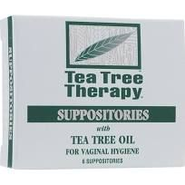 Tea Tree Therapy Vaginal Suppositories with Tea Tree Oil 6 Suppositories