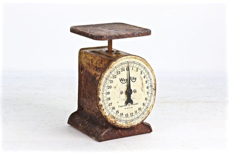 Vintage Scale, Antique Kitchen Scale, Rusty Scale, Rustic Kitchen Scale, Primitive Scale, Rusty Old Scale, Farmhouse Decor, Old Scale by HuntandFound on Etsy
