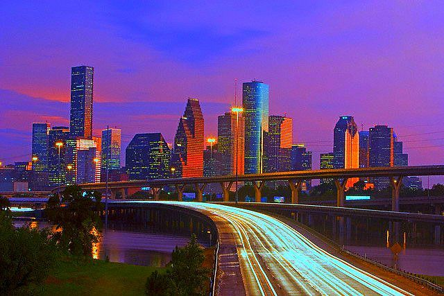 Houston Tx Usa Twilit City Skylines Pinterest