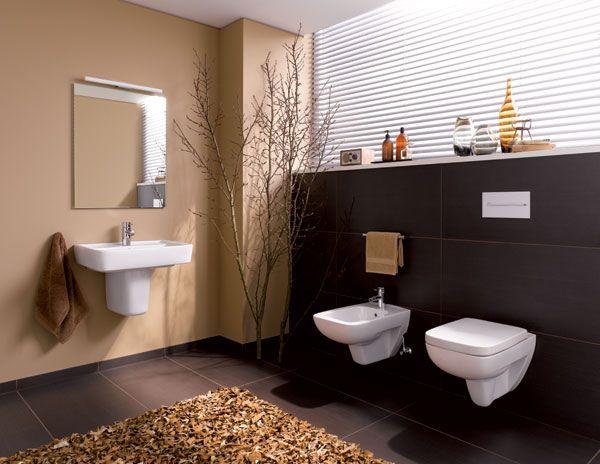 baos modernos de color marrn ideas para decorar disear y mejorar tu casa - Aseos Modernos