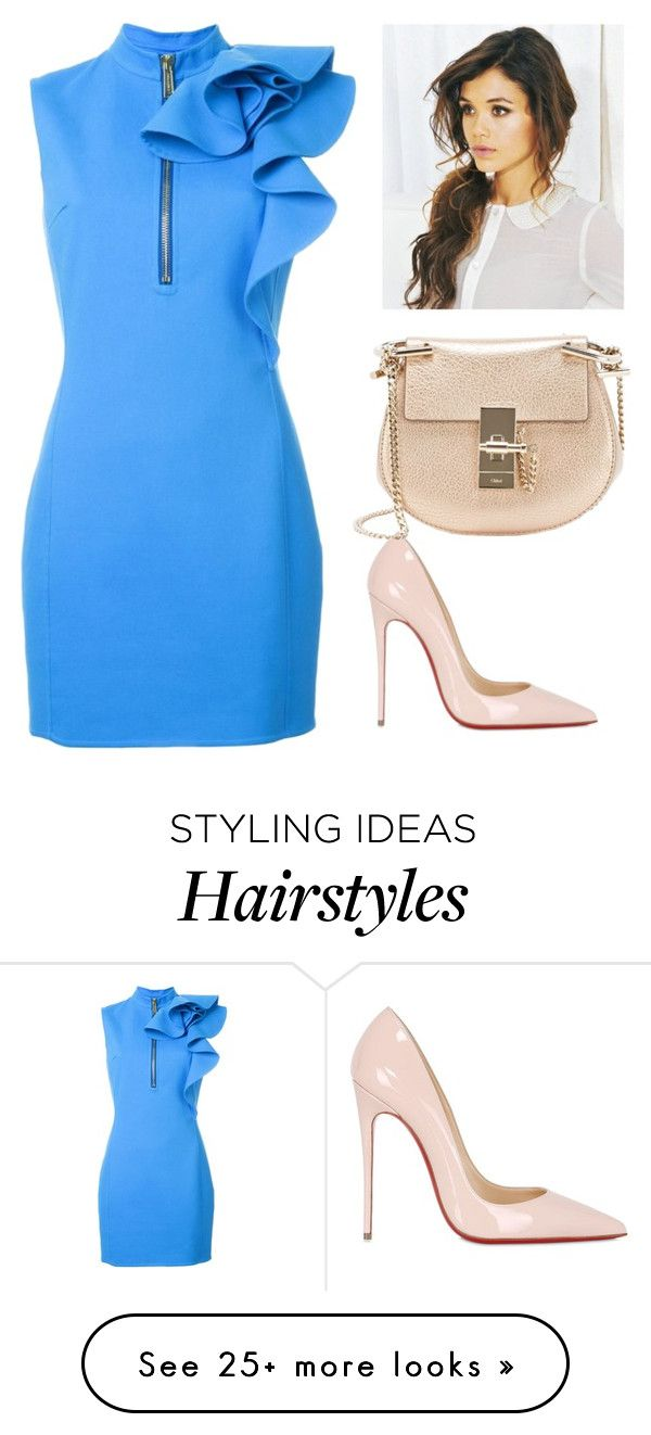 """""""Untitled #855"""" by azra-99 on Polyvore featuring Dsquared2, Christian Louboutin and Chloé"""