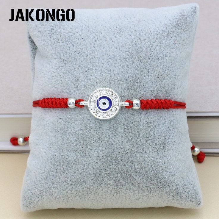 Jakongo crystal evil blue eye weave red knots braided rope bracelet man adjustab…   – Products