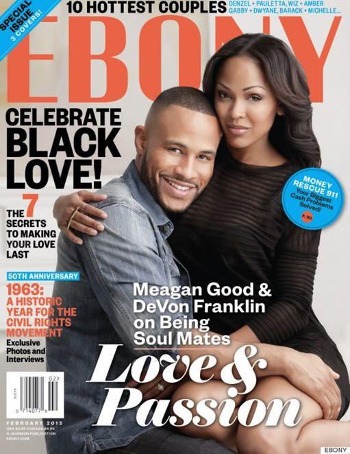 Ebony Magazine Covers Meagan Good and DeVon