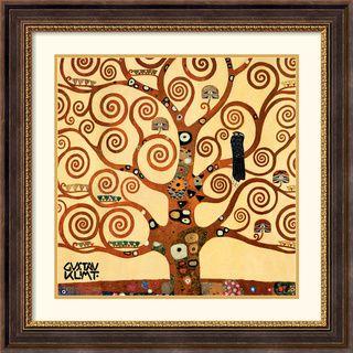Gustav Klimt 'Tree Of Life (detail 1)' Traditional Framed Art Print