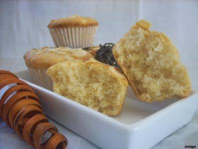 Magdalenas de almendra y naranja (sin gluten, sin lactosa)   Magia en mi cocina   Recetas faciles de cocina paso a paso