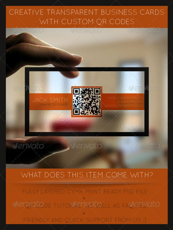Qr code generator business card creative transparent business cards with qr code fonts reheart Image collections
