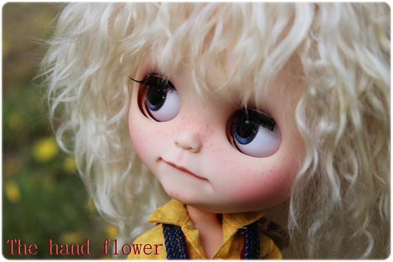 OOAK Custom Blythe doll Face up and Customized Blythe.