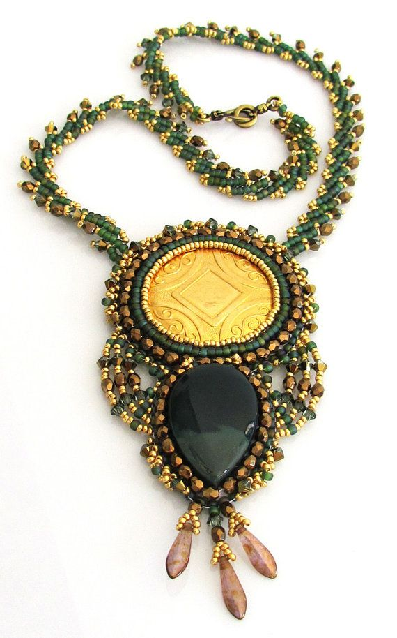 OOAK Sun Pendant Necklace by bead4me on Etsy, $160.00