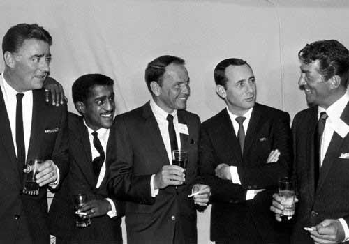 The Rat Pack - Peter Lawford, Sammy Davis, Jr., Frank Sinatra, Joey Bishop, Dean Martin
