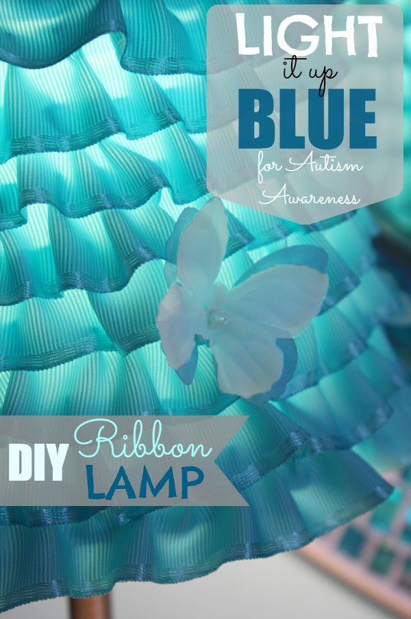 I LOVE this DIY Ribbon Lamp Shade! You can do it in any color! https://www.retailpackaging.com/categories/74-everyday-specialty-ribbon #crafts