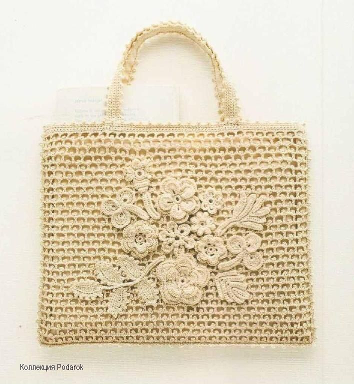 So stylish, love it. #crochet bag!!