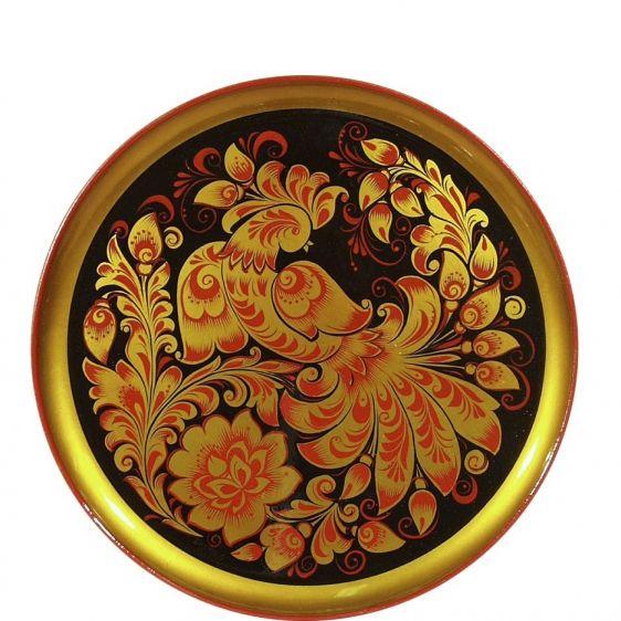 Продукция - Изделия с хохломской росписью - Тарелка-панно - Тарелка-панно прес. 400х20