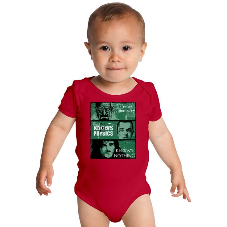 Breaking Bad Vs Big Bang Theory Vs Game Of Thrones Knows Baby Onesies