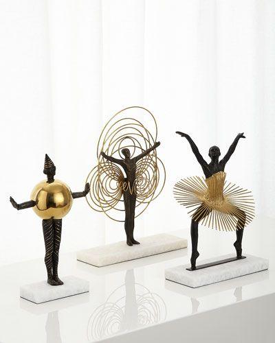 -6LWD Global Views Bauhaus Sphere Woman Sculpture Bauhaus Grande Plie Sculpture…