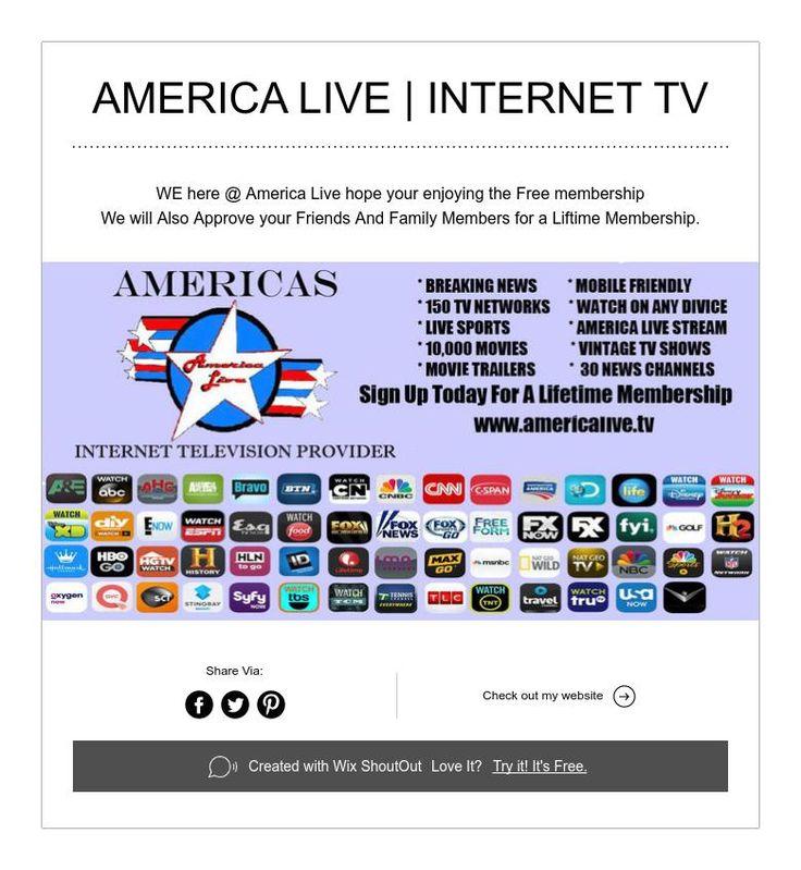 america live   internet tv