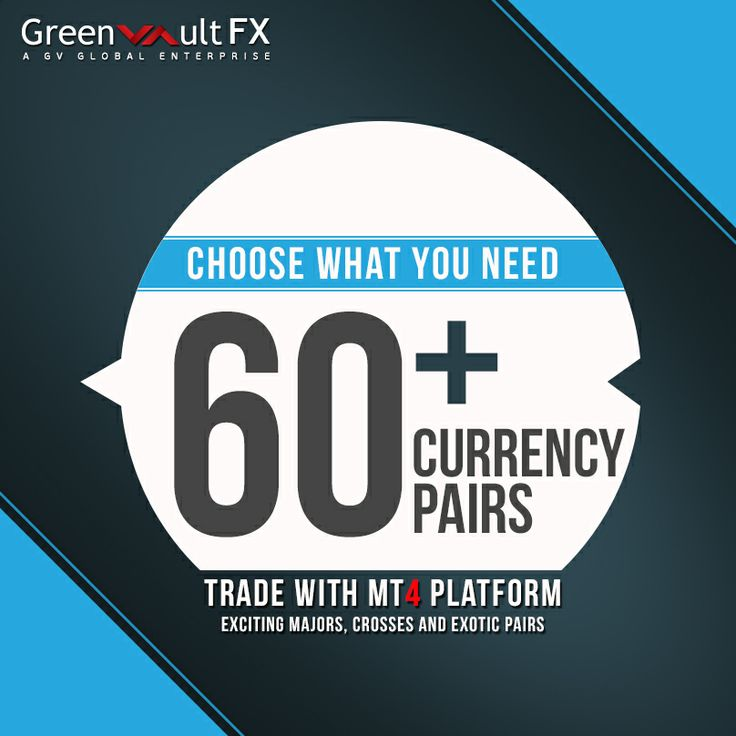 #Trade with confidence! Buy the #currency pair when the price is low and sell when the price is high. Greenvault #FX offers 60+ currency pairs to trade with #MT4 Platform.  Trade currencies by getting more information from our website.