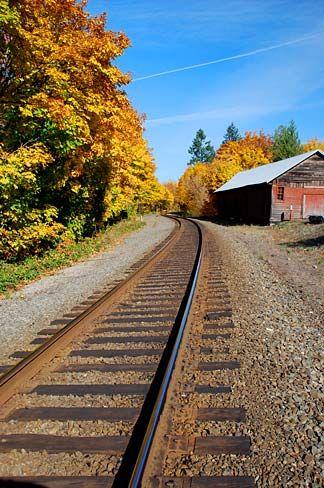 Description Aurora Train Tracks (Marion County, Oregon scenic images ...