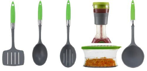 Jokari Healthy Steps Portion Control Diet / Weight Loss 6pc Kitchen Essentials Tool Set