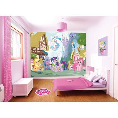This My Little Pony wall mural from Walltastic will brighten up any little girls bedroom, nursery or playroom. Vibrant colours and the magical My Little Pony scene encourage your child to play and develop their imagination. Similar to wallpaper it's easy to put up and contains 12 strips that can be cut to size. Max size: 8 x 10ft. Currently 20% off at The Range Online!