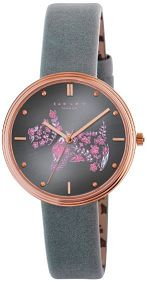 Radley watch rose gold face with floral dog.