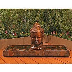 Give Yourself The Gift Of Tranquility In Your Outdoor Space With The  Incredible Buddha Head Outdoor. Garden FountainsOutdoor ...