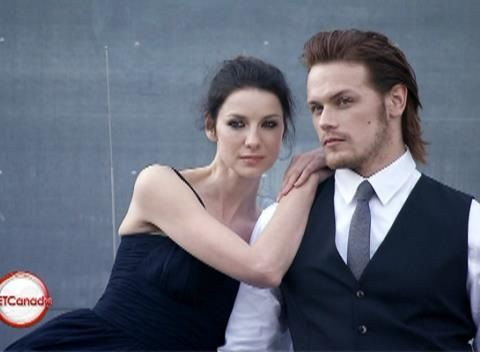Sam Heughan & Caitriona Balfe picture perfect .