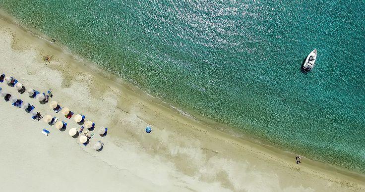 A divine #beach at your feet, at the Ios Palace Hotel on #iosisland #mylopotasgreece iospalacehotel.com