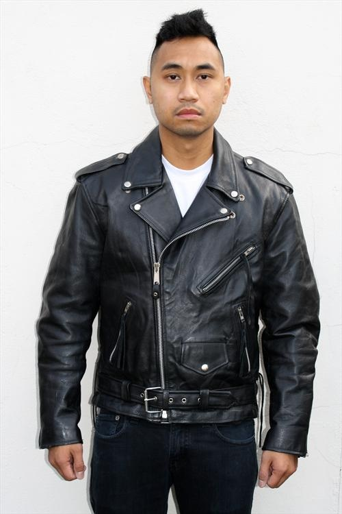 Leather Biker Jacket Look