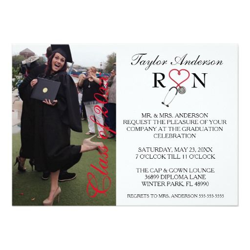 131 best nursing school graduation invitations images on pinterest trendy medical rn school graduation announcement filmwisefo