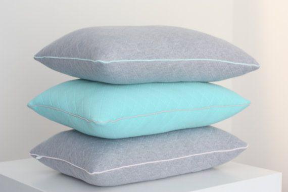 Decorative Pillow Cushion Modern Grey Mint Bedding by myTITU