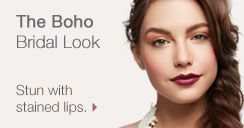 The Boho Bridal Look. Stun with stained lips.