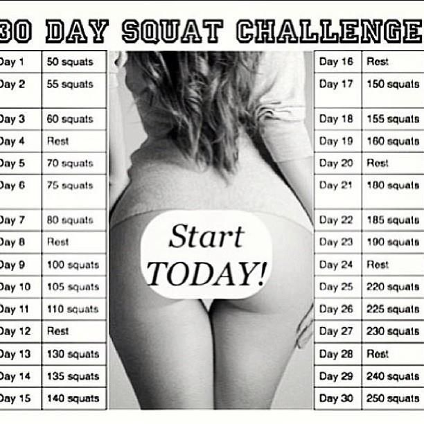 I've seen the 30 day plank challenge going around and then I saw this - 30 day squat challenge! Since we've targeted our core, why not now target our rear end?! I'm sure everyone would love a bette...