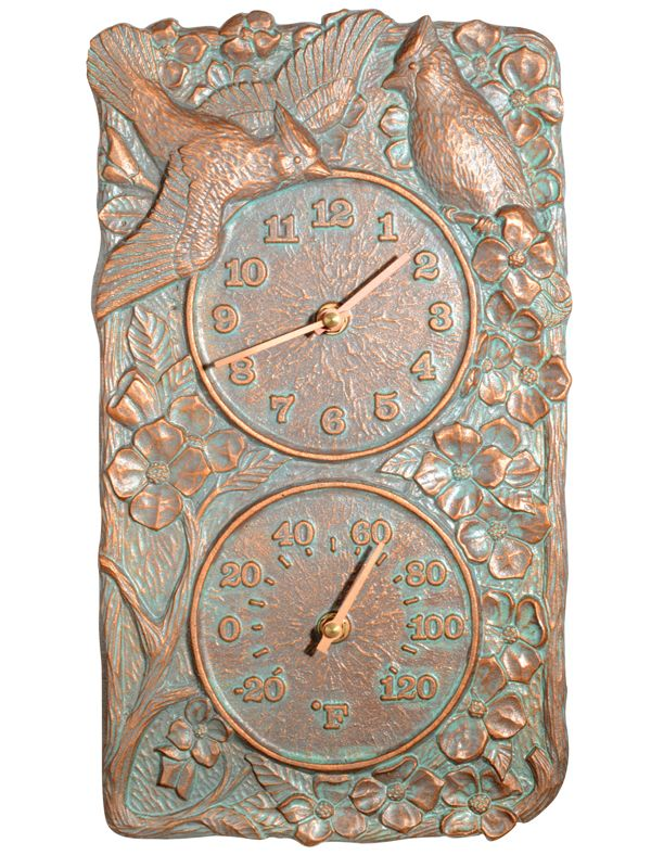 Cardinal Clock Thermometer