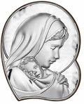 Matka Boska z dzieciątkiem srebrny obrazek prezent na chrzest, komunię i wiele innych okazji. www.pasazhandlowy.eu