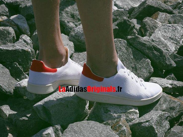 Adidas Originals Stan Smith OG Primeknit - Chaussure Pas Cher Pour Homme/Femme Blanc/Rouge S75147-Boutique Adidas Originals de Running (FR) - LaAdidasOriginals.fr