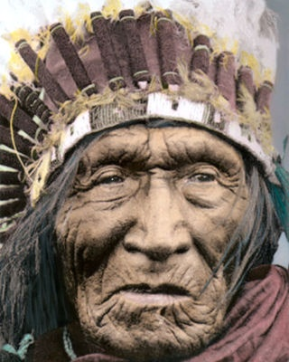 """He Dog Native American Indian LAKOTA Sioux 1930 8x10"""" Hand Color Tinted Photo 