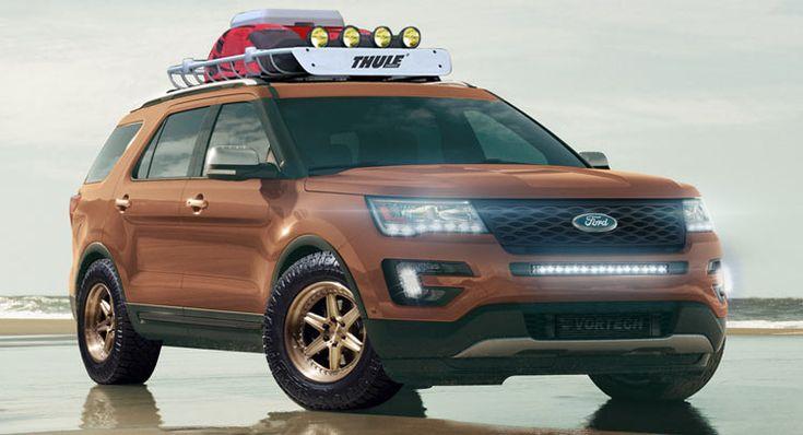 Ford Traer Cuatro personalizada Explorer Sport SUV Para SEMA
