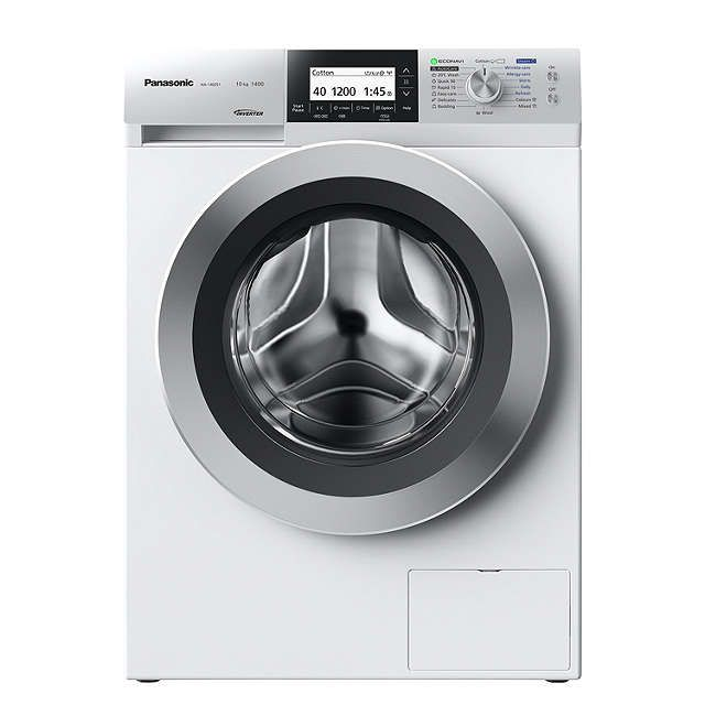 BuyPanasonic NA-140ZS1WGB Freestanding Washing Machine with Steam, 10kg Load, A+++ Energy Rating, 1400rpm Spin, White Online at johnlewis.com